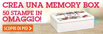 Crea una memory box, 50 stampe in omaggio
