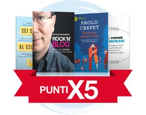 Punti X5 su una selezione di libri a tema Rivoluzione digitale
