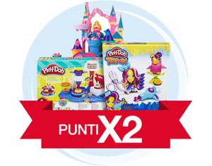 Doppi punti sui giocattoli per bambini di tutte le età Play-Doh