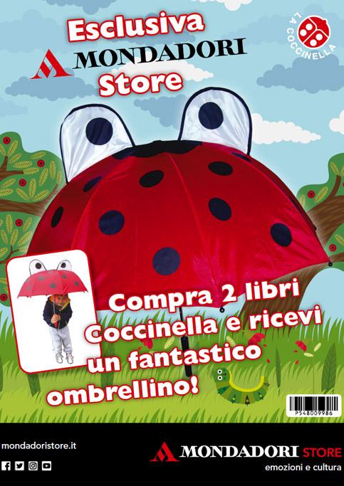 Acquista due libri Coccinella e avrai in regalo un fantastico ombrellino.