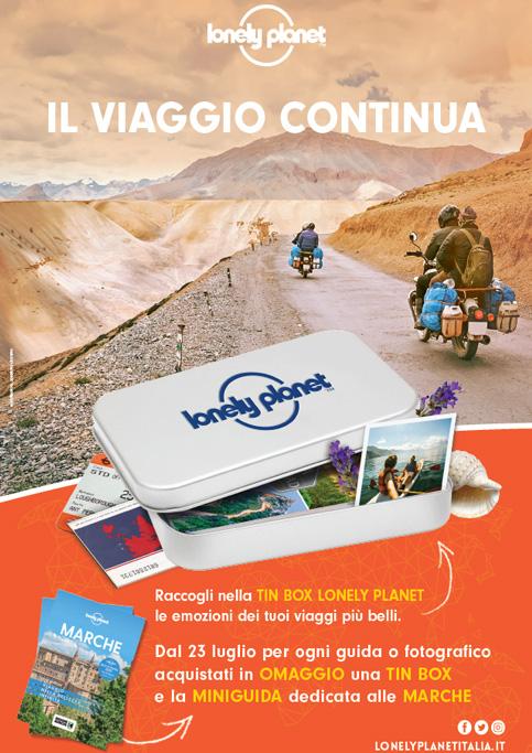 Acquista una guida o un fotografico Lonely Planete avrai in omaggio la tiny box e la miniguida delle Marche.