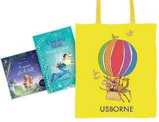 Acquistando due libri Usborne avrai in regalo una splendida borsa