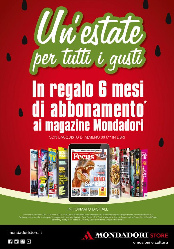 Per te in regalo un abbonamento digitale per 6 mesi ai magazine più letti.