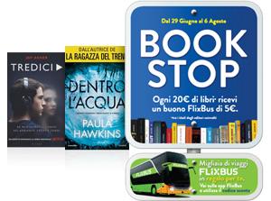 Acquista 20€ di libri, per te un buono sconto FlixBus di 5€ per i tuoi viaggi