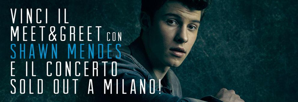 Incontra Shawn Mendes e vinci il biglietto del concerto!