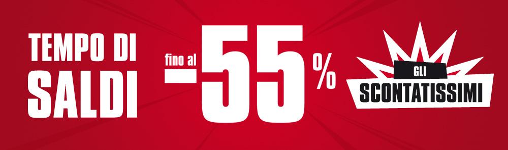 Saldi invernali fino al -55%